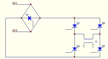 上图为中频臭氧电源系统的电路结构图,此电源是根据介质和臭氧放电室而设计的与之相匹配的高压电源,其中可控硅属大功率器件,工作压降低,过载特性好,输出功率大,用于中频大功率电源时的性能比较高,能很好地满足臭氧发生器对电源的需要。 A.三相全控整流桥 用于控制调节整流器的输出电压,实现高压输出电压与臭氧产量的平滑调节。该电路能避免臭氧放电室在起辉和工作放电时因负载变动产生高电压,从而保证了臭氧电源和臭氧放电室的可靠性。 B.可控硅全桥逆变 因可控硅是半开关器件,它必须在自身电流过零时才能关断,而可控硅又在电源与